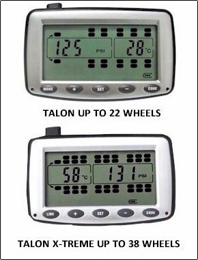 Semi Truck Tire Pressure Monitor for 22 or 38 wheel Trucks
